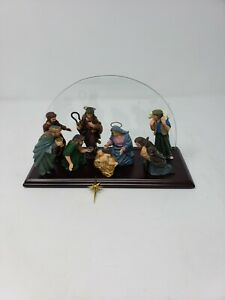 1 Piece Christmas Nativity Scene Mantle Decoration w/ Glass Background- Baby