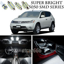 5050 SMD White LED Interior Lights Package Kit For 2003-2007 Nissan Murano 13pcs