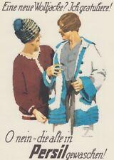 Ludwig Hohlwein - Farbige Werbegraphik 20er Jahre - Motiv Persil Neue Wolljacke