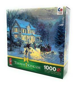 "Thomas Kinkade 1000 Piece Ceaco Jigsaw Puzzle, Home for the Holidays (27"" x 20"")"