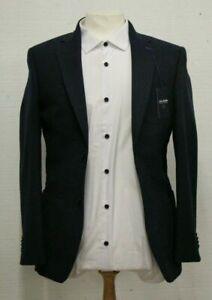 T.M.LEWIN Damiano Slim Fit Jacket In Navy Wool Broken Herringbone Ref: 7587
