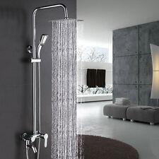 Bathroom wall mount Rainfall/waterfall Shower Set Chrome Mixer With Hand Spray