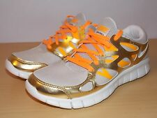 New Nike Women's Free Run 2 Premium EXT Birch Sail Metallic Gold Citrus 12 DS