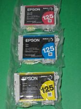 6 pk(2 sets) Genuine Epson 125 Color Inks T125 T1252-T1254  NX420 NX125 NX127