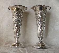 Vasi porta fiori Sheffield Electroplate EPBM J. Dixon c1880 Pair of Posy Vases