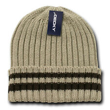 CABLE KNIT SWEATER BEANIE HAT Winter Watch Cap striped ski snowboard skull