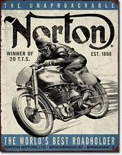 Norton Motorcycles Metal Sign Tin New Vintage Style Usa #1706