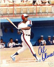 AL  OLIVER  MONTREAL  EXPOS  SIGNED 8X10