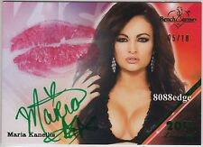 2011 BENCHWARMER LIMITED KISS AUTO: MARIA KANELLIS #5/10 AUTOGRAPH PLAYBOY/WWE