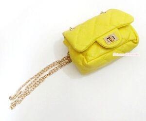 Optional Color Metal Chain Buckle Girl Handbag Kid Shoulder Bag Children Purse