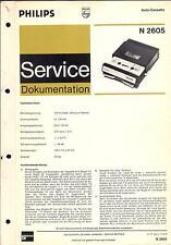 Philips original Service Manual para grabador n 2605