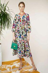 BNWT Rixo London Camellia Midi Dress In Floral Daisy Size L UK 14