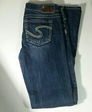 Silver Jeans Tuesday Size W 29 L 33 Jr Low Rise Straight Fit Bootcut  SDA369