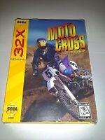 Motocross Championship Sega Genesis 32X Game Cart In Original Box Complete CIB