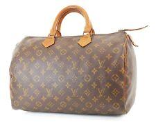 Authentic Vintage LOUIS VUITTON Speedy 35 Monogram Boston Handbag Purse #37170