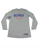 New Nike NBA Authentics Detroit Pistons Team Issued Long Sleeve Practice Shirt