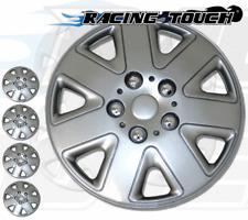 "Metallic Silver 4pcs Set #026 15"" Inches Hubcaps Hub Cap Wheel Cover Rim Skin"