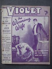 UK Pulp Magazine - THE VIOLET MAGAZINE  No. 60 Dec 12, 1924