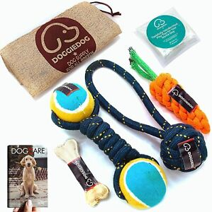 5 In 1 Premium 3 Indestructible Cotton Hand-Braided Chewing Toys Combo for Dog