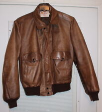 Vintage 70s EXCELLED 40 Regular Leather Jacket- It sells Because it Excels - USA