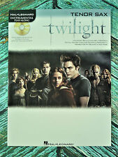 New! TWILIGHT for TENOR SAX Book with CD Accompaniment HL842409 Bella's Lullaby