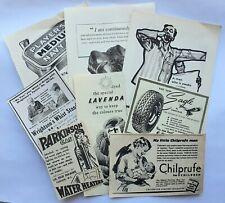 Vintage paper advertising ephemera: fashion, knitting, other. For crafts etc