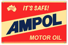 Ampol Gasoline Reproduction Motor Oil Metal Sign - 18 inches x 30 In RVG166