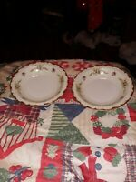 Harmony House Sears China Wembley Pattern Rimmed Soup or Salad Bowl Set of 2