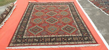 Hand Knotted Sumak New Oriental Rug Turkish Kilim Wool Natural Dyes 8' x 10'