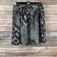 Banana Republic Heritage Women's Purple Silk Blend Mini Skirt Size 2