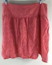 Apostrophe Women's Skirt Size 18 Coral Pink Knee Length Knit