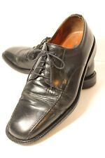 Bostonian Mens Size 11 M Bicycle Toe Black Leather Lace Up Dress Oxford Shoes
