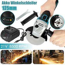 DE Akku Winkelschleifer 21V Trennschleifer Schleifmaschine Flex Mit 1 Batterien