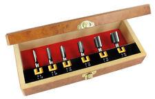 ENT 6-tlg. HW Oberfräser Nutfräser Set - Ø  6 - 8 - 10 - 12 - 16 - 20 mm - Schaf