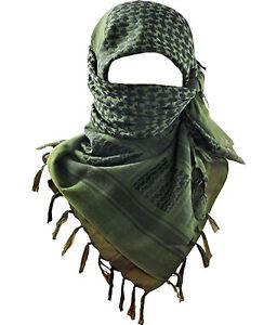 100% Cotton Keffiyeh Tactical Desert Scarf Wrap Shemagh Head Neck Arab Scarves