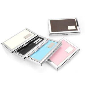 Stainless Steel Credit Card Holder Men Slim Anti Protect Travel ID Card Holder