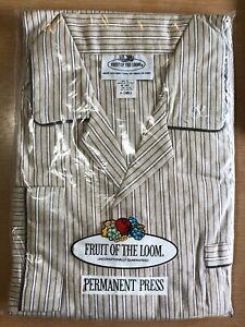 Vintage Fruit of The Loom Men's 2 piece Pajamas Permanent Press SMALL - NEW