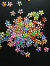 100 pcs Flower Sequins Scrapbooking Crafts Embellishments Card Making Plastic