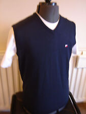 JRB GOLF - MENS V-NECK SLEEVELESS JUMPER SWEATER (BLUE) - 100% ACRYLIC - SMALL