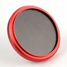 FOTGA 77mm Ajustable Fader Variable ND filtro ND2 a ND400 Rojo Anillo