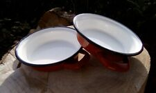Two Spanish enamel gratin dishes