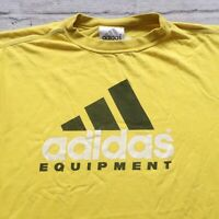 Vintage 90s Adidas Equipment Tshirt Size XL Electric Yellow