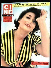 Ciné Télé Revue 10/11/1961; Gianna-Maria Canale/ Joan Collins/ Marlon Brando