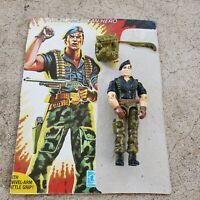 Vintage GI Joe Figure 1985 Flint complete with full card