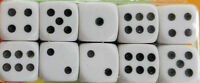 10 Stück Würfel weiß Spielwürfel # 15mm x 15mm x 15mm ### MASSIV ### dice Spiel