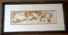 Goofy As Fireman Color Comic Strip 1976 King Features Framed