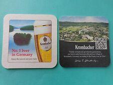 2 Beer Coasters ~ KROMBACHER Privatbrauerei: No 1 Bier Brand in GERMANY Est 1803