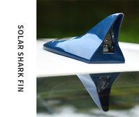 Anti-collision 8 LED Warning Light Solar Power Shark Fin Antenna Decoration Blue