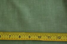 """By 1/2 Yd, 36"""" Wide, Vintage 1940's-60's, Green Cotton Chambray, N1632"""