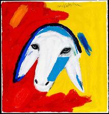 Menashe Kadishman Original Hand Signed Serigraph Malevich Sheep, Silkscreen
